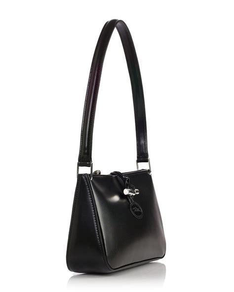 lyst longchamp roseau shoulder bag  black