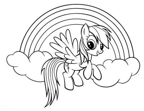 Kleurplaat My Pony Rainbow Dash by Rainbow Dash Coloring Pages Coloring Pages My