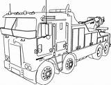 Truck Coloring Semi Pages Trailer Printable Getcolorings sketch template