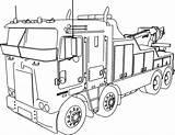Truck Coloring Semi Trailer Printable Getcolorings sketch template