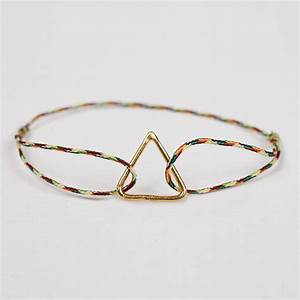 gold pyramid bracelet, assorted colours by bohemia ...