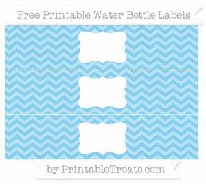 free baby blue chevron water bottle labels baby shower With free printable water bottle labels for birthday