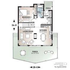 House Plan 034 01277 Lake Front Plan: 2 424 Square Feet