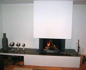 Cheminée à Foyer Ouvert : cheminee moderne foyer ouvert ~ Premium-room.com Idées de Décoration