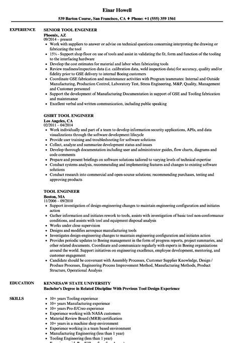 tool engineer resume velvet years experience file should