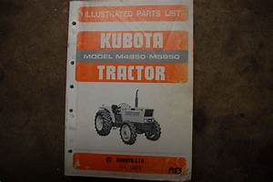 Kubota M4950 M5950 Tractor Parts Manual Book Catalog List
