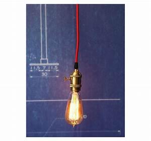 Suspension Ampoule Vintage : suspension douille cuivre a interrupteur pour ampoule filament edison ~ Dode.kayakingforconservation.com Idées de Décoration