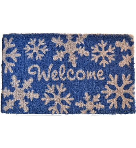 snowflake doormat welcome coir doormat snowflakes in doormats