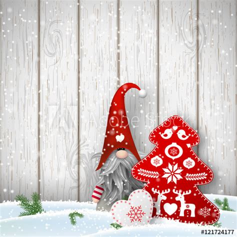 scandinavian christmas traditional gnome tomte
