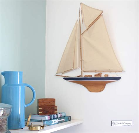 Boat Half Hull Models by Half Hull Sailing Boat Wall Mounted Gaff Rig The