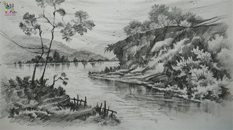 learn drawing  shading  landscape art  pencil