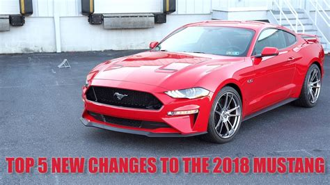 2018 Mustang Changes by Top 5 New Changes To The 2018 Mustang