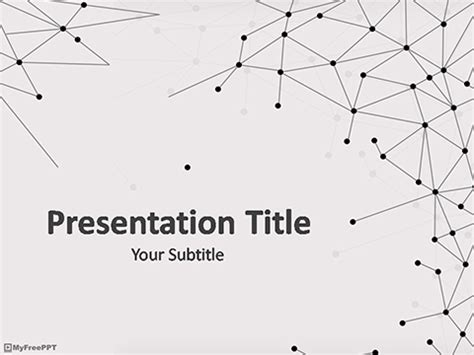 geometry template free lines waves powerpoint templates themes ppt