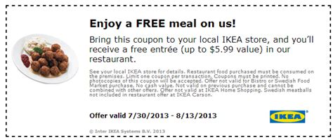 Free Meal At Ikea With Coupon  Heavenly Steals