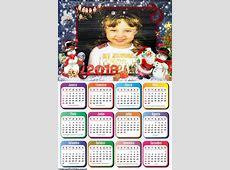 Calendário 2018 Natal Feliz Montagem para Fotos