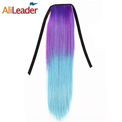 Alileader Hair Synthetic Clip On Ponytails Straight