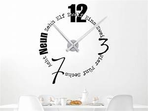 Designer Uhr Wand : wandtattoo wanduhr designerzeit uhr ~ Lateststills.com Haus und Dekorationen