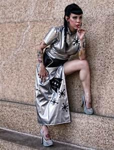 Sci-Fi Cheongsam Space Cadet Sexy Retro Rocket Sci-Fi Dress Halloween Costume Silver And Black ...