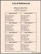 References Template Word Reference List Template For Resume Gallery For Format With Blank Ex References For Resume Template Template Full Of References For Resume Template Resume Sample Reference Page Go Back Gallery For Resume Reference List Template
