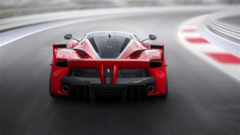 ferrari fxx  red supercar  view speed road