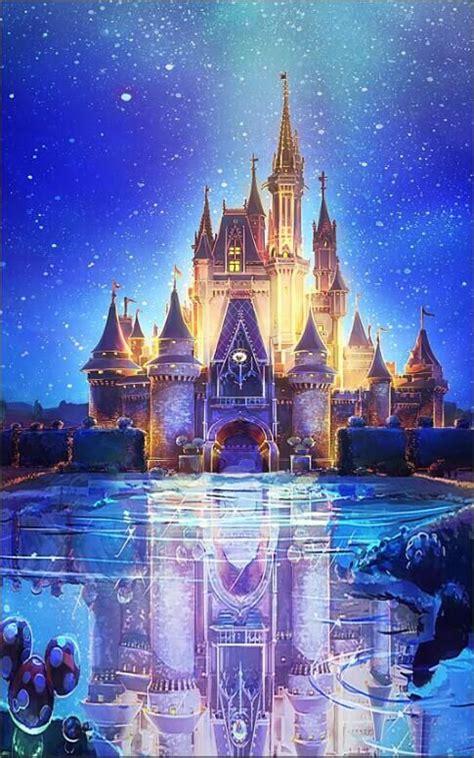 xft blue snow flakes bokeh sky castle palace square
