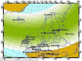 northern lights viewing map northern lights could be visible from uk as sun 39 s 39 solar