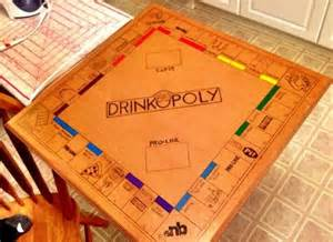 Homemade Drinking Board Games