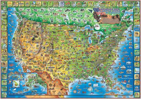 dinos illustrated map   usa  dino maps