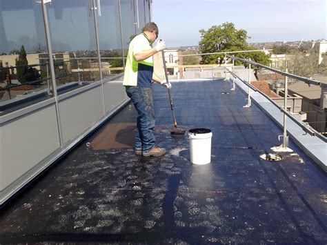 Waterproofing Flat Concrete Roof Using Liquid Rubber Youtube