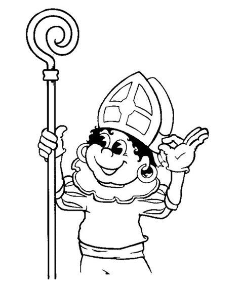 Kleurplaat Zwarte Piet Fiets by Kleurplaten Zwarte Piet Op Fiets