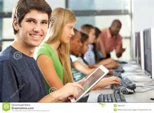 Stock Image Boy Computer Class