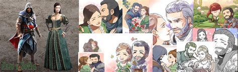 ezio and sofia collage by flaky178 on deviantart