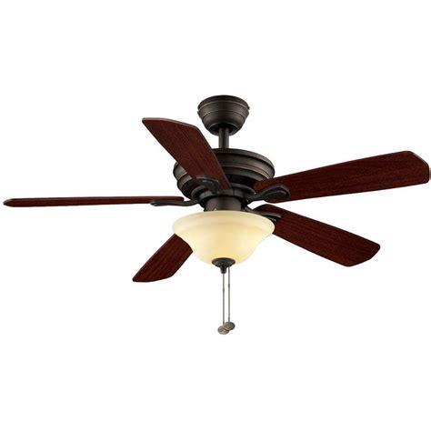 oil rubbed bronze ceiling fan hton bay ceiling fans wellston 44 in oil rubbed bronze