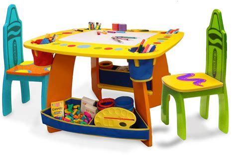 kids table n chairs grow 39 n up crayola wooden kids 3 piece table and chair set