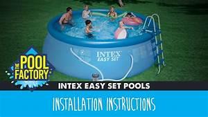 Intex Easy Set Pools Instructions