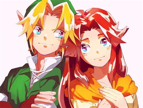 Link And Malon (the Legend Of Zelda And The Legend Of