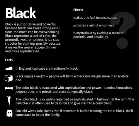 black meaning psychology of color daily dose