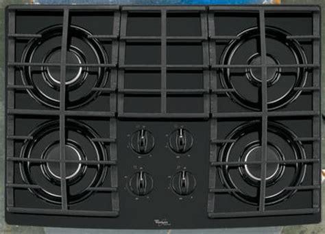 whirlpool gltrb   sealed burner gas cooktop   btu power burner accusimmer