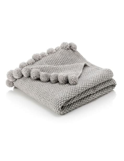 Marks And Spencer Sofa Throws by Pom Pom Knitted Throw M S My Future Nuggets Knitted