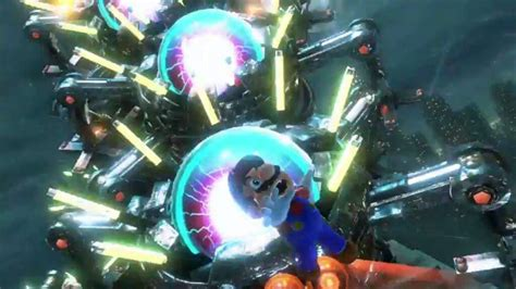 mario super boss robot switch trailer galaxy centipede analyzed giant gobblegut spin attack them crystals meaning power