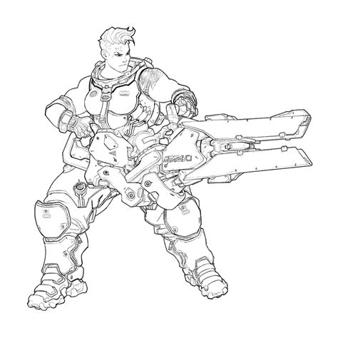 Kleurplaat Overwatch Doomfist by Kleurplaat Overwatch How To Draw Doomfist Overwatch