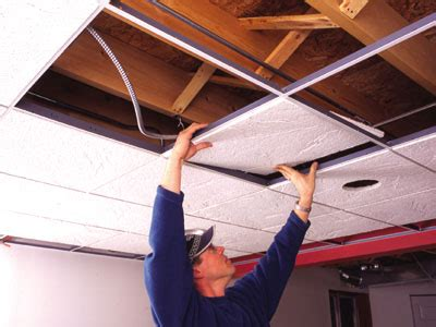 Diy Soundproof Drop Ceiling by Diy Acoustic Ceiling Tile How To