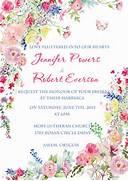 Romantic Pink Flower Watercolor Spring Wedding Invitations EWI400 As Modern Watercolor Floral Wedding Invitation Zazzle Romantic Watercolor Flowers Wedding Invitation Zazzle Watercolor Pink Floral Wedding Invitations With Matching RSVP Card
