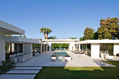 shaped concrete bungalow plans google search courtyard house plans shaped houses pool
