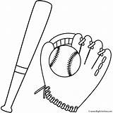 Baseball Bat Coloring Glove Pages Sports Ball Print Father Colouring Printable Template Bigactivities Fathers Football Gloves Activity Sport Printables Craft sketch template