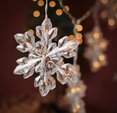 large snowflake string lights lighting christmas and