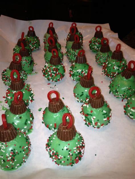 christmas ornament cake pops christmas pinterest
