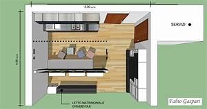 Idea progettuale per monolocale 24mq