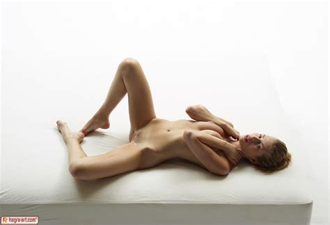 Slender Naked Model Katia All Oiled Up In Studio Nudes By