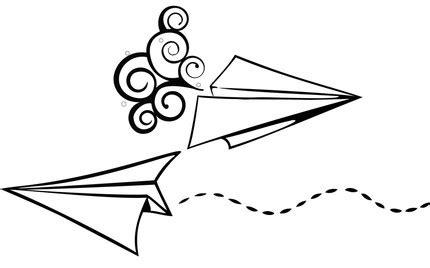 paper plane drawing